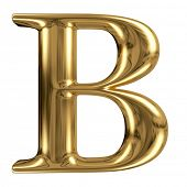 picture of letter b  - Golden font type letter B - JPG