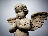 stock photo of cherub  - Beautiful Sculpture at a Melbourne Cemetery - JPG