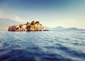 stock photo of tilt  - Sveti Stefan - JPG