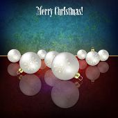 Christmas Grunge Background With Decorations