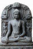 stock photo of budha  - Buddha in Bhumisparsha mudra - JPG