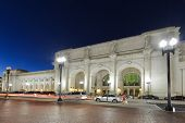 picture of amtrak  - Union Station at night - JPG