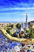 BARCELONA, SPAIN - SEPTEMBER 16: Park Guell on September 16, 2013 in Barcelona, Spain. The park was