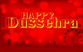 picture of ravan  - illustration of Happy Dussehra background on mela backdrop - JPG