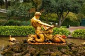 pic of jaw drop  - Fountain with a statue of Triton tearing jaws of a monster - JPG