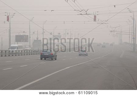Thick Smog In Moscow