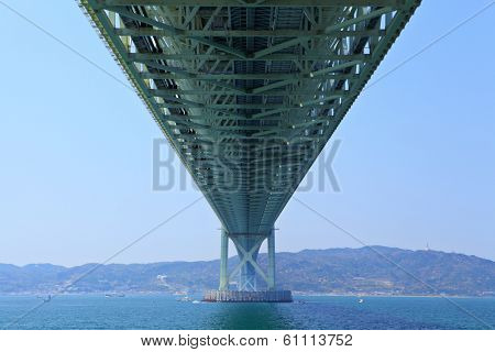 Bottom view of akashi Kaikyo bridge