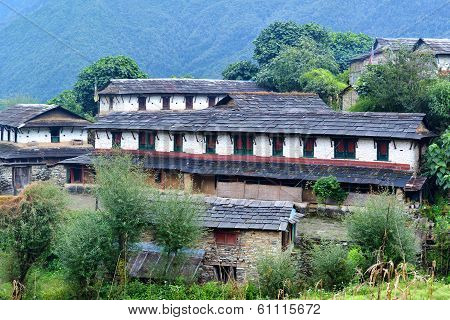 Traditional Stone House In Ghandruk, Nepal