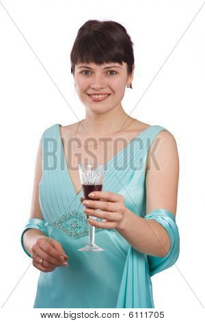 Woman With A Glass Of Wine.