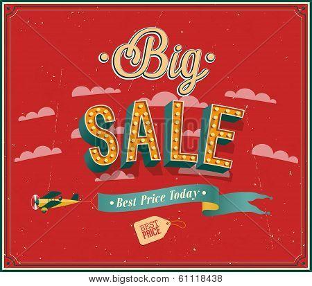 Big Sale Typographic Design.
