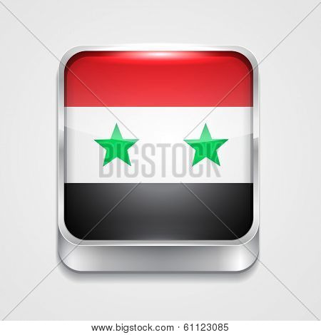 vector 3d style flag icon of syria