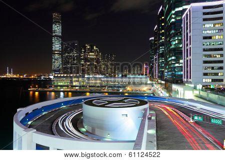 Kowloon side in Hong Kong at night