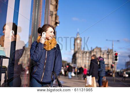 Girl Talks On Phone