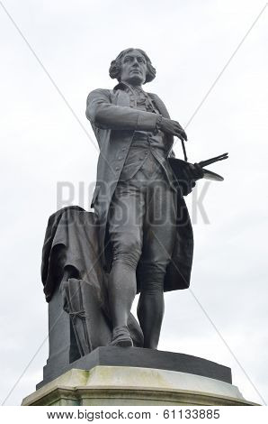 Statue of thomas gainsborough in sudbury