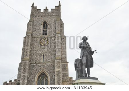 Church and statue at sudbury