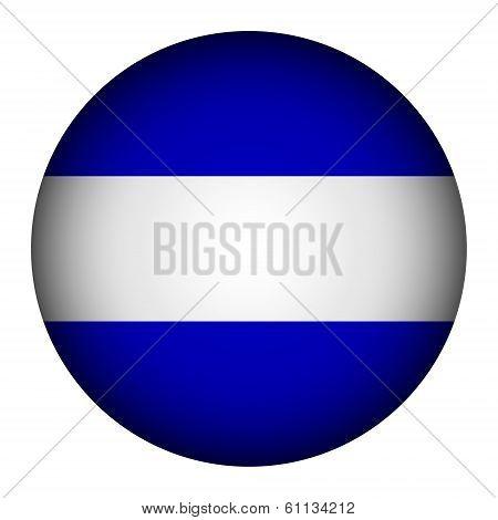El Salvador Flag Button.