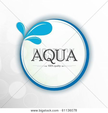 World Water Day sticker, tag or label design with stylish text Aqua and splash on grey background.