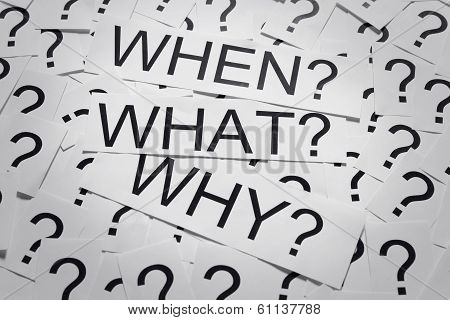 When, what and why?