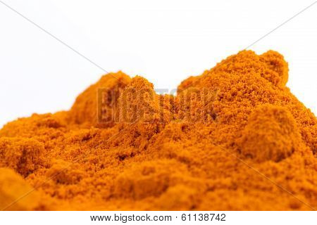 Heap of Organic Raw Curcumin Spice