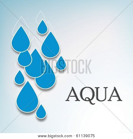World Water Day concept with blue water drops on grey background, can be use as flyer, banner or poster.