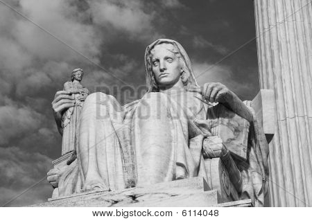 Contemplation Of Justice Bw