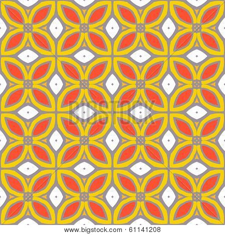Seamless vector pattern with bold geometric shapes