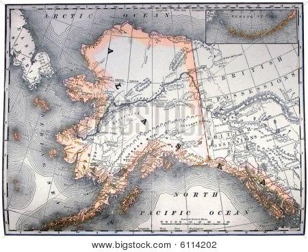 Vintage Map Of Alaska