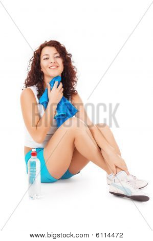 Woman Resting After Sports