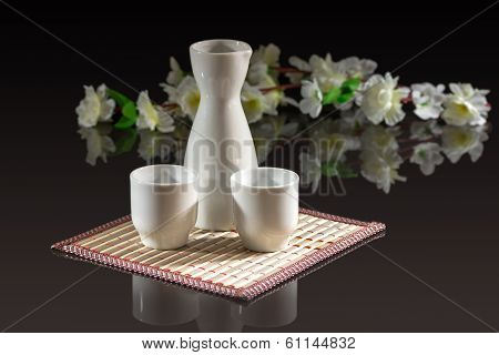 sake - a traditional Japanese alcoholic beverage