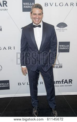 NEW YORK-FEB 5: TV personality Andy Cohen attends the 2014 amfAR New York Gala at Cipriani Wall Street on February 5, 2014 in New York City.