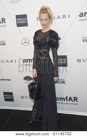 NEW YORK-FEB 5: Model Poppy Delevingne attends the 2014 amfAR New York Gala at Cipriani Wall Street on February 5, 2014 in New York City.