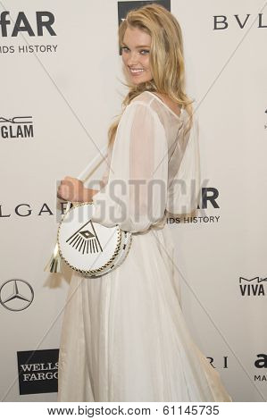 NEW YORK-FEB 5: Model Elsa Hosk attends the 2014 amfAR New York Gala at Cipriani Wall Street on February 5, 2014 in New York City.