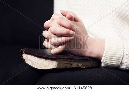 Folding Hands and praying