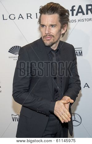 NEW YORK-FEB 5: Actor Ethan Hawke attends the 2014 amfAR New York Gala at Cipriani Wall Street on February 5, 2014 in New York City.