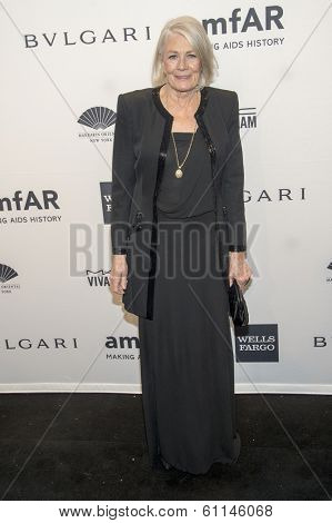 NEW YORK-FEB 5: Actress Vanessa Redgrave attends the 2014 amfAR New York Gala at Cipriani Wall Street on February 5, 2014 in New York City.