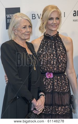 NEW YORK-FEB 5: Actors Vanessa Redgrave (L) and Joely Richardson attend the 2014 amfAR New York Gala at Cipriani Wall Street on February 5, 2014 in New York City.