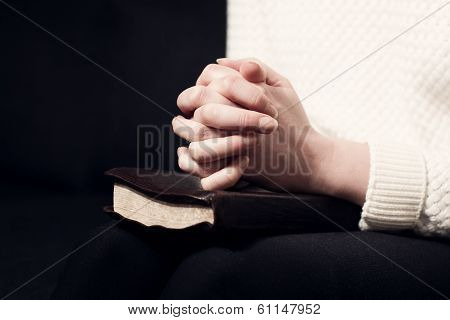 Folding hands and pray