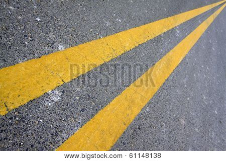 Yellow Double Solid Line