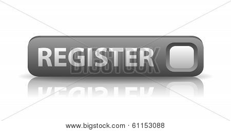 3D Gray Web Button Register