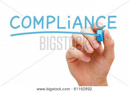 Compliance Blue Marker