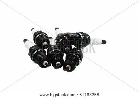 Sparkplugs On White