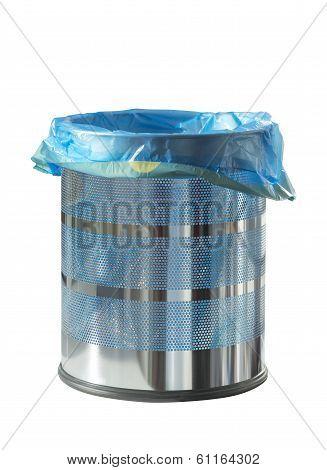 Metal recycle bin