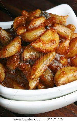 Garlic Pickle - A Popular Indian Pickle Made Of Garlic Or Lehsun