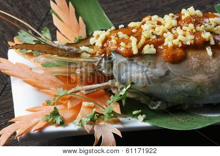 Galdi Chingri Chiney Kabab - Stuffed Jumbo Prawn Flavoured With Hot Spices & Baked