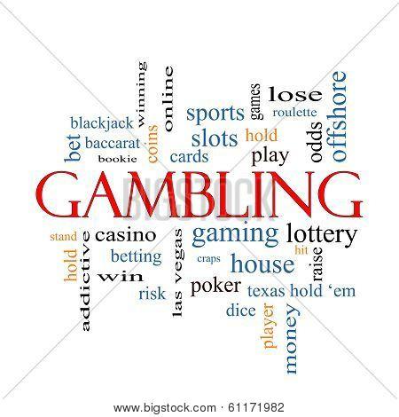 Gambling Word Cloud Concept