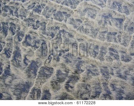 Texture Pattern in sand on ocean beach