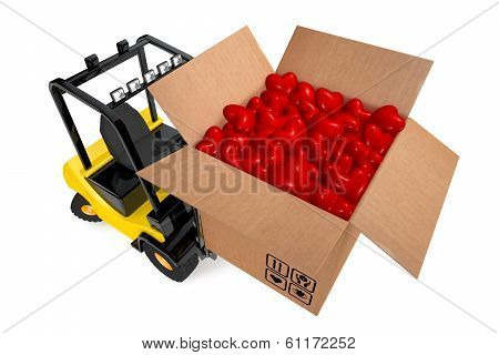 Loader With Box Full Hearts
