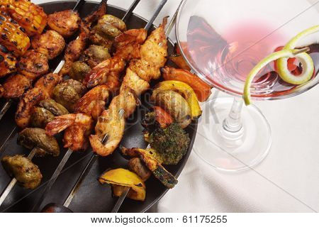 Barbecue Kebab Platter