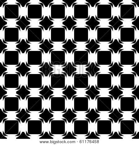Design Seamless Monochrome Tetragon Pattern. Abstract Geometric Lattice Background