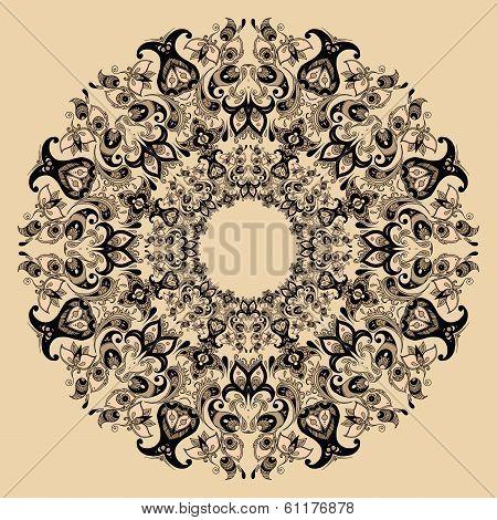 Floral design mandala
